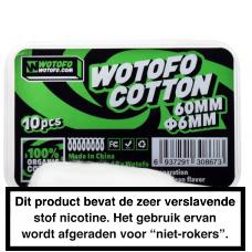 Wotofo Pre-Built Profile RDA Agleted Organic Cotton (6mm)