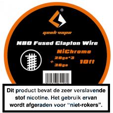 GeekVape NI80 Fused Clapton 3MTR 28 x 3+36